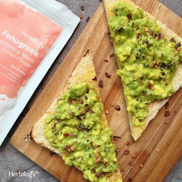 Fenugreek Avocado Toast